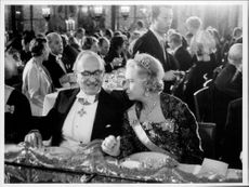 Dennis Gabor and Princess Sibylla at the Nobel Dinner.