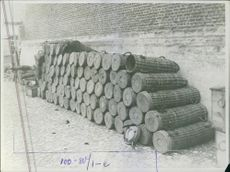 A container's in the ground in Belgium, 1914.