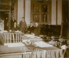 The first meeting of the Norwegian arbitral court in 1916.
