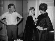 Sophia Loren talking to Madeleine Renaud, with Jean Louis Barrault.