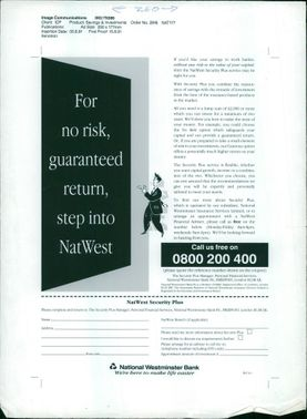 No risk guaranteed return step into natwest.