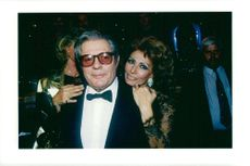 Sophia Loren along with Marcello Mastroianni
