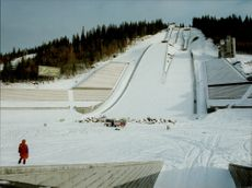 Construction is in full swing in the venue for the Winter Olympics.