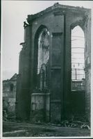 Ruins of St John Cathedral in Warsaw, 1945.