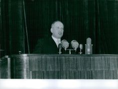 Koukharkine giving his speech at a press conference.