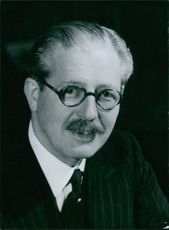 Portrait of Maurice Harold Macmillan. Secretary of State for Foreign Affairs; Minister of Defence, October, 1954-April, 1955; Conservative Member of Parliament for Bromley.