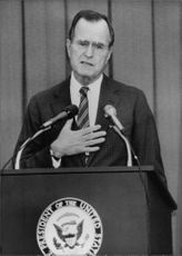 George Walker Bush giving speech.