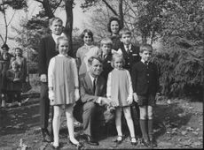 """Robert Francis """"Bobby"""" Kennedy posing with kids."""