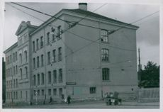 Sofienberg school occupied by the Germans, Norway 1943.
