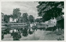 Downhill from Ronneby. Postcard