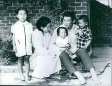 Kim Ung Yong as a little boy with his family.