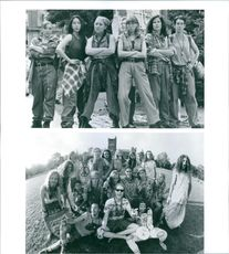 """The casts being photographed on the set of the film """"PCU."""", 1994."""
