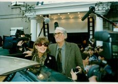 Gregory Peck and his wife Vernoique at the French Film Festival for thrillers.