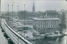 Tunnelbygge 1952 (Tunnel Construction 1952) Stockholm Tunnel banan (subway)