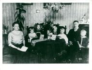 A record store family in his apartment in Tomtebo at the turn of the century