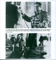 Two scenes from the film Needful Things.