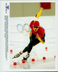 Winter Olympics in Nagano 1998. Speed ??Skating. Catriona Le May Doan took gold at 500 meters