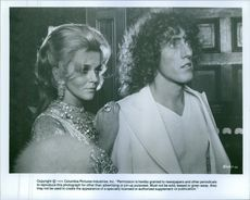 Ann-Margret and Roger Daltrey in the musical fantasy film, Tommy.