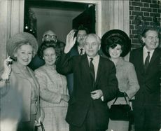 Harold Wilson with mr callaghan and elie tanner.s