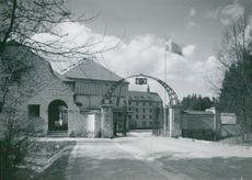 Filmstaden in Råsunda. The otherwise incessantly closed gate to the film town