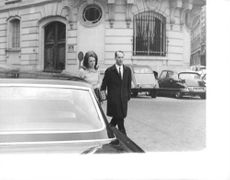 Princess Irene and Carlos Hugo walking, 1969.