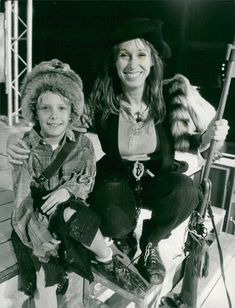 """Eva Rydberg together with son Kalle from """"Annie get your Gun"""""""