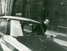 Mehdi Ben Barka with car.