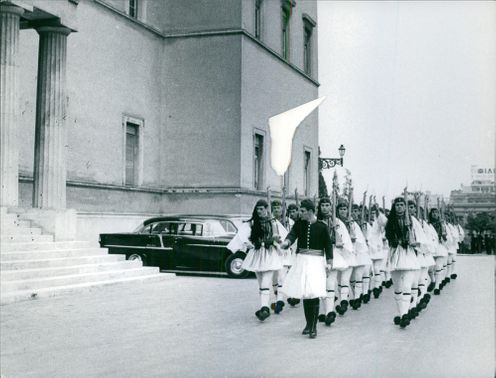 Parade in Athens August 2, 1960