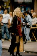 "Sharon Stone during the film recording of ""Gloria"""