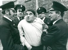 Ronnie Barker, actor, in the role of Fletch.