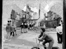The damage in Brixton was great after the second night with riots.