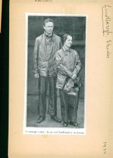 Portrait of Captain Charles Lindbergh and his wife