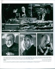 """Top: Hollywood Pictures explosive drama """"The Rock"""" stars (left to right) Michael Biehn, Se4an Connery, John Spencer and Danny Nucci.  Below: 1987 Academy Award winner Sean Connery(left0 stars as John Patrick Mason, 1995 Academy Award winner Nico"""