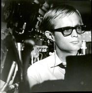 "Scottish actor David McCallum in the film ""Dangerous Mission under the Garden""."
