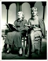 Virginia Stride and Dame Sybil Thorndike.