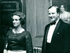 Lord Denham with his wife.
