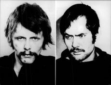 The West German terrorists Jan Carl Rasre and Andreas Bader.