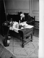 Jacques Charrier sitting and thinking.
