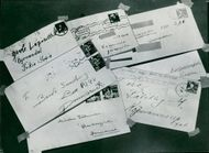 Letters from and to Danish and Norwegian refugees in Sweden as reported by Gestapo