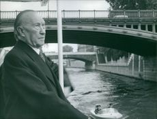 Konrad Adenauer in Paris, 1962.