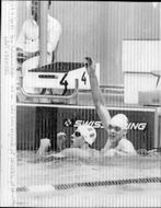 The swimmer Per Johansson wins the test for 100 meters