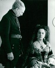 Anders Ek and Birgitta Valberg in Carl XII on the dramatic stage
