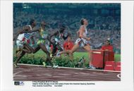 Vebjörn Rodal wins the final at 800m before Hezekiel Sepeng during the Olympic Games in Atlanta in 1996