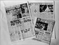 British newspapers with tribute to the tennis player Björn Borg