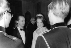 Irene Hugo Bourbon-Parma with Duke Carlos Hugo in an event, Princess Irene wearing her tiara.