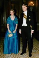 Prime Minister Carl Bildt with Mrs Mia arrives at the Royal Eight at Stockholm Palace