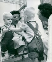 The physicist Elizabeth Bevan is training Little Lars at the Academic Hospital
