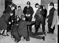 The police intervene in connection with a demonstration of racial misconduct and minority problems.