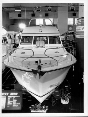 "The boat ""Princess 385"" at the boat fair in Earls Court"