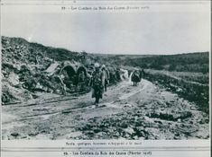 Only a few men escape the mountain during the The Fighting of the Wood of the Cures. February 1916